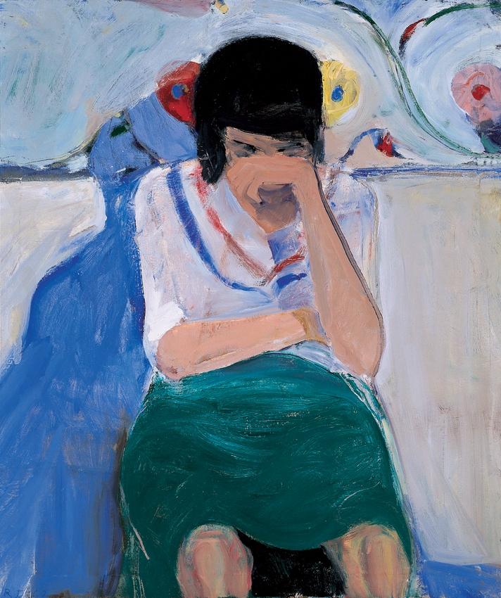 Richard Diebenkorn Girl Flowere - modernism_is_crap   ello