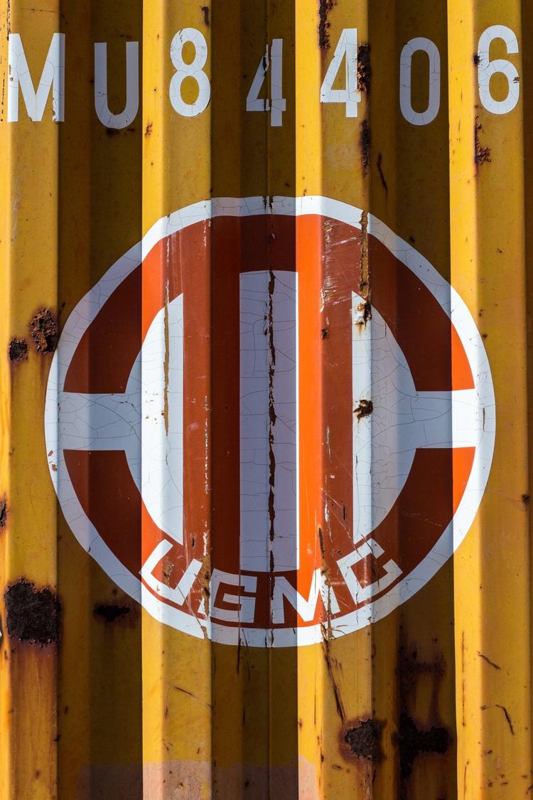 Shipping container - stencil, graphic - genevievemaynard | ello