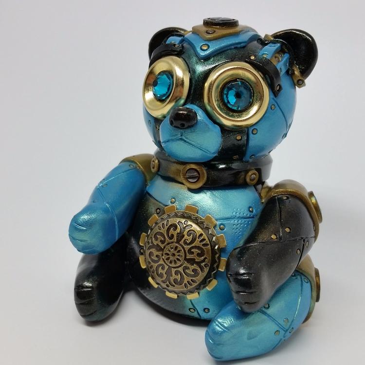 Steampunk Bear - Polymerclay. c - tanyadavisart   ello