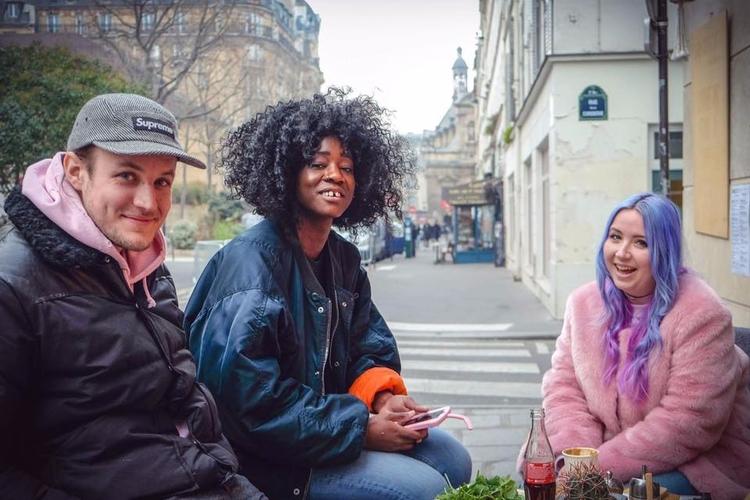 Katia, friends, launching Funky - stephaniepfeiffer | ello