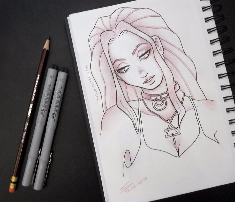 Late night sketch - dailysketch - lyrilith | ello