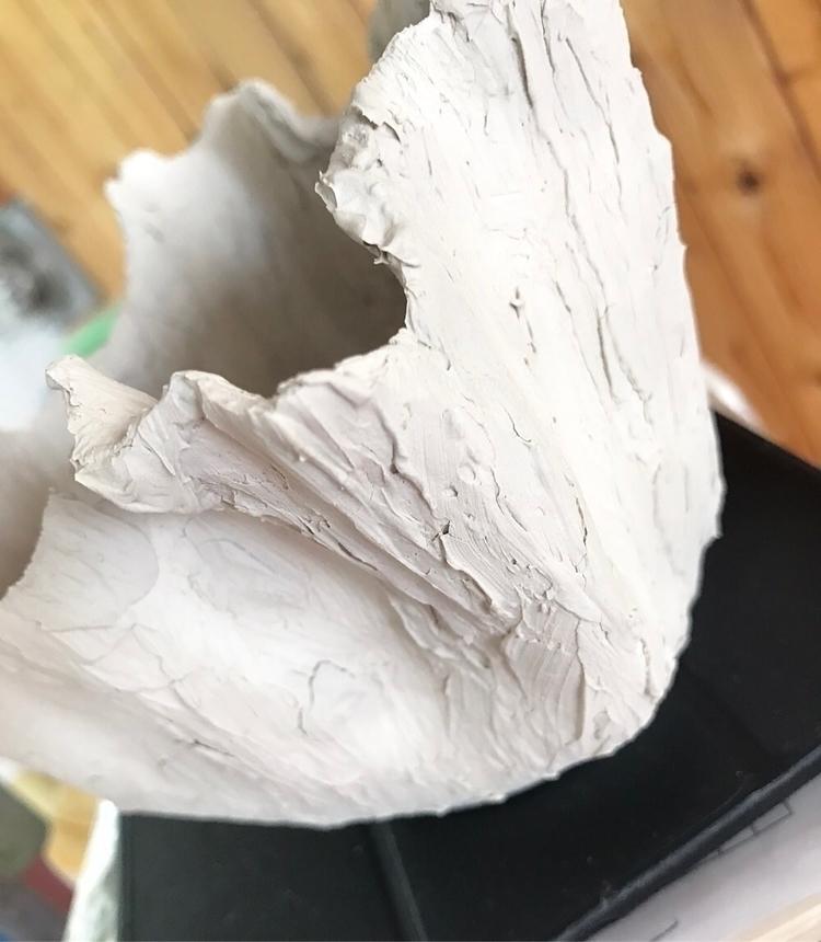 Slipture Sculpture bowl survive - lilpspottery | ello