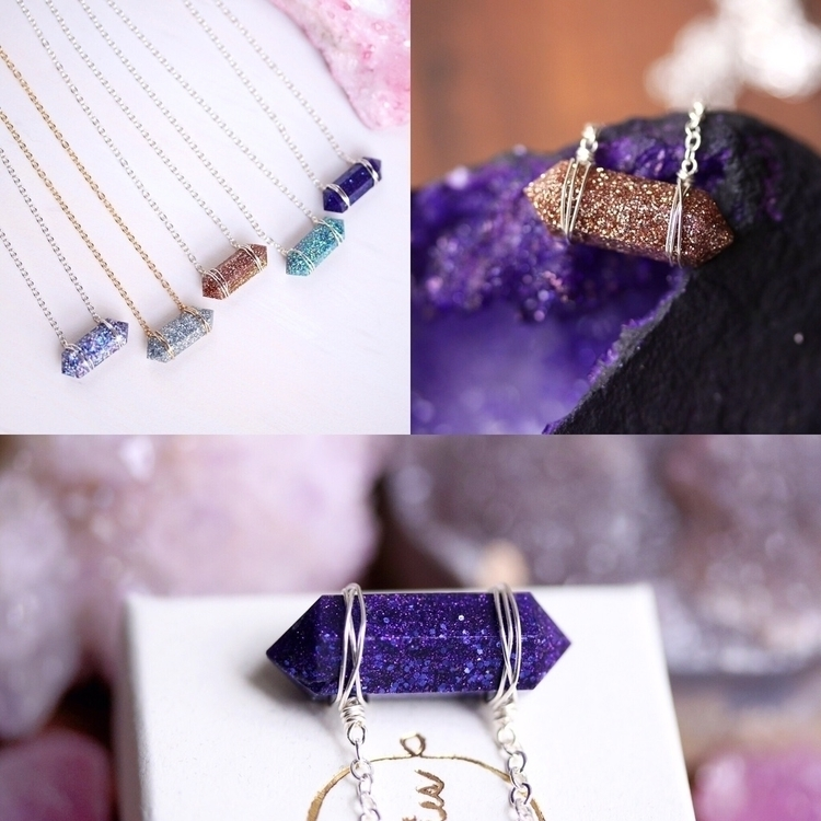 Crystal glitter bar necklaces s - tinygalaxies | ello