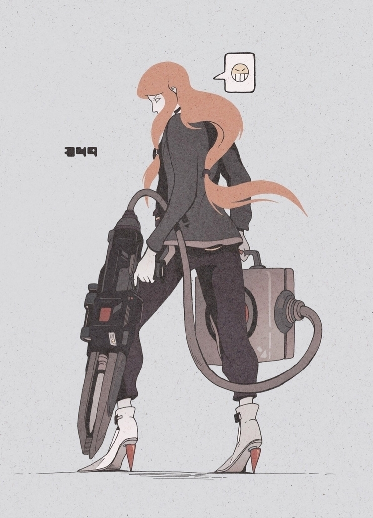 Day 349/365: Railgun Ready - illustration - 1sles | ello