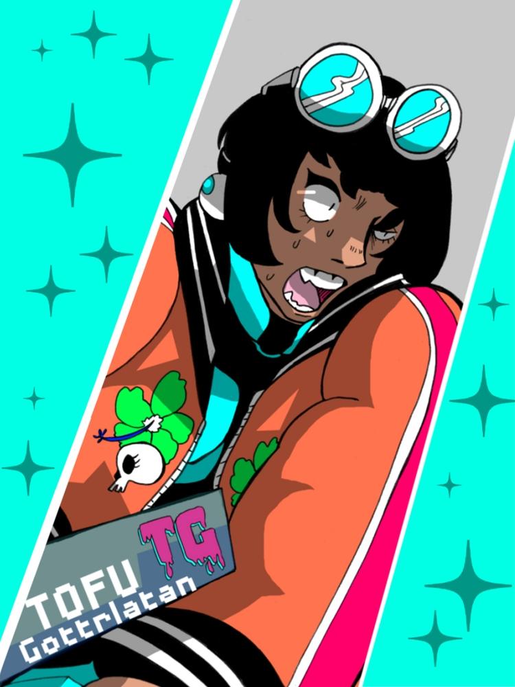 Illustration custom badge commi - tofuplusbeast | ello