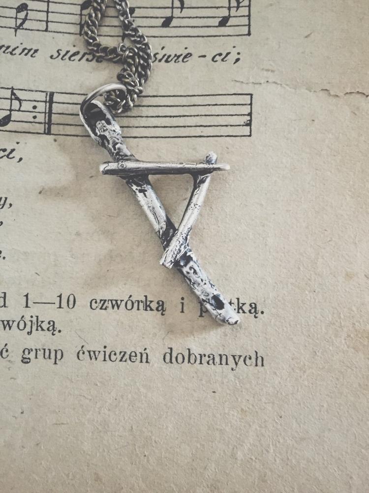 Small silver Thurisaz rune pend - darkwoodjewelry | ello