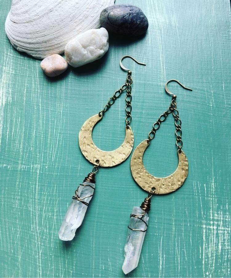 Hammered bronze moons angel aur - kookoomamadesign | ello