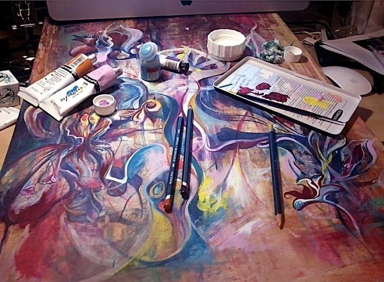 Late night painting - lovetopaint - femsorcell | ello