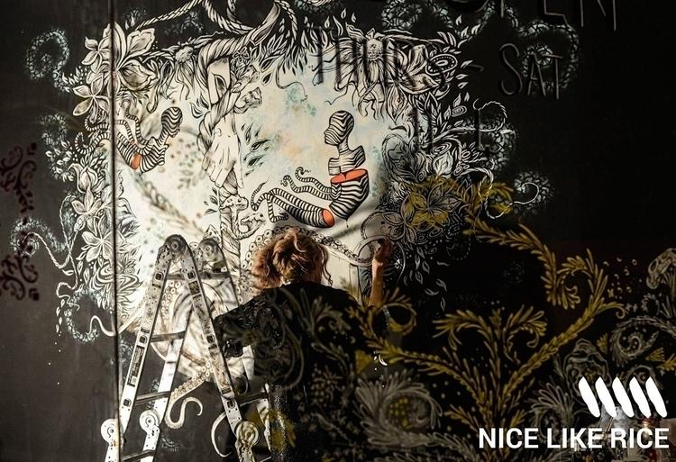 Live art Mural Nice Rice - mural - femsorcell | ello