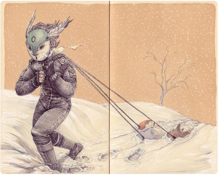 JOURNEY - mrflama, ballpen, sketchbook - mrflama | ello