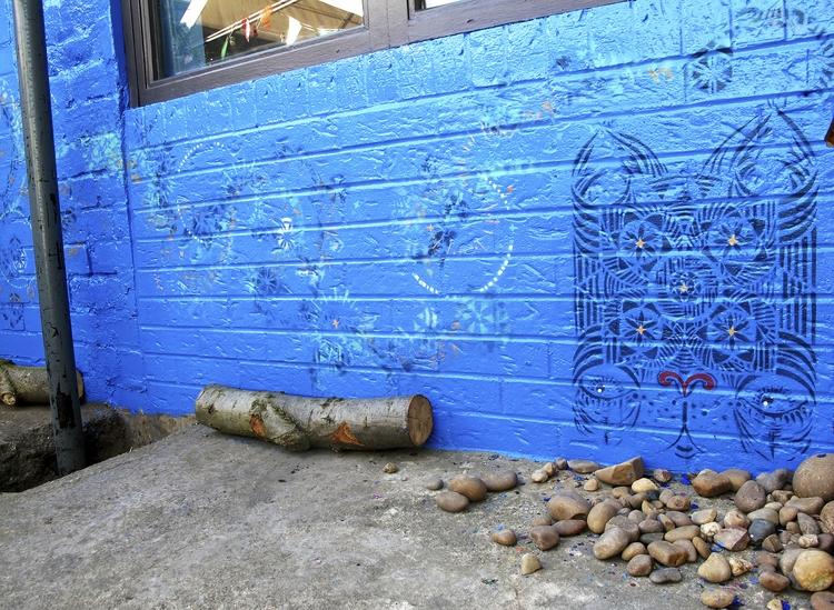stencils, wallart, mural, design - femsorcell | ello