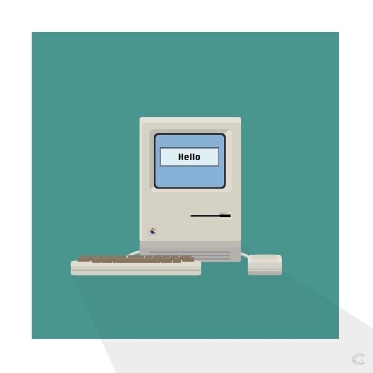 Mac.  - apple, macintosh, vector - cliff-c-black | ello