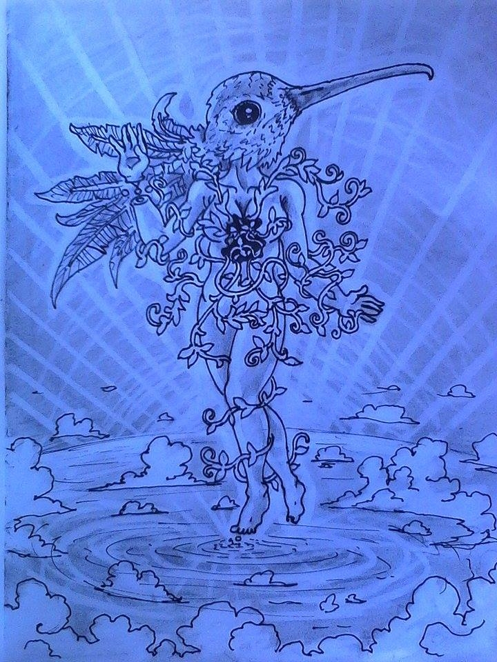 illustration, pen, ink., doodle - lookupcatnip   ello