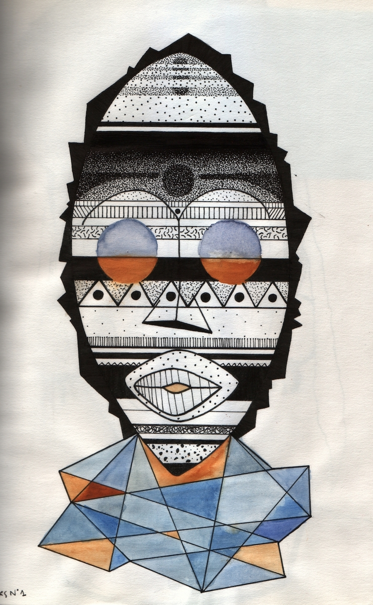 Ongoing project - tribal, mask, artwork - rrrraulmp | ello