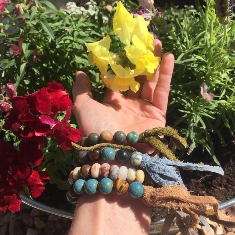 bohemian, bracelets, fringe, tigerseye - elementalvibes | ello