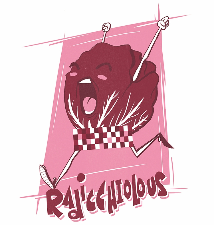 Illustrated pun friends told - radicchio - justinmilgate | ello