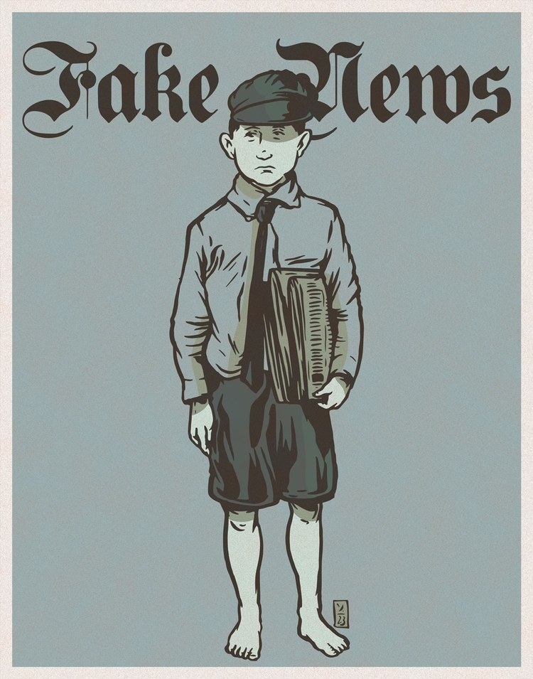 Fake News - illustration - thomcat23   ello