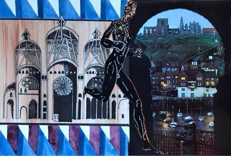 mixedmedia, collageart, watercolor - whitneysanford | ello
