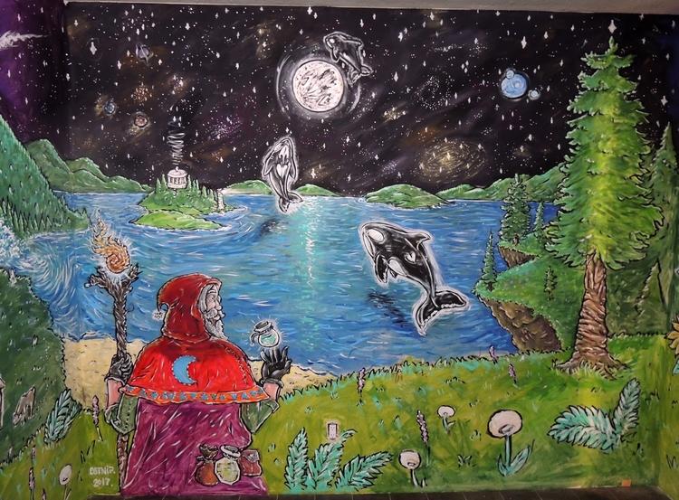 side previous sea Rise - mural, magical - lookupcatnip | ello
