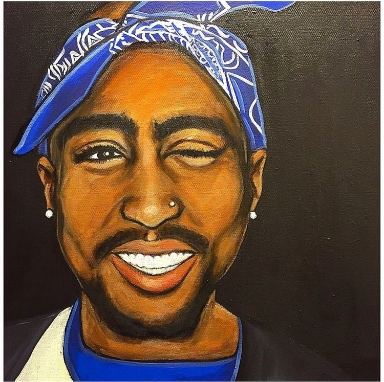 Happy birthday Tupac 18x18 acry - brieplease | ello