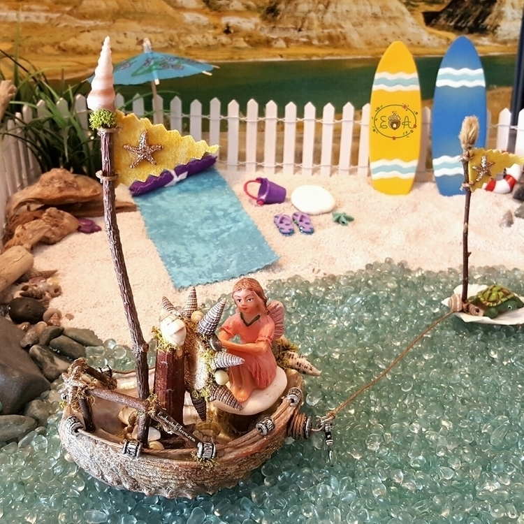 fairy garden boat! finished - fairygardens | ello
