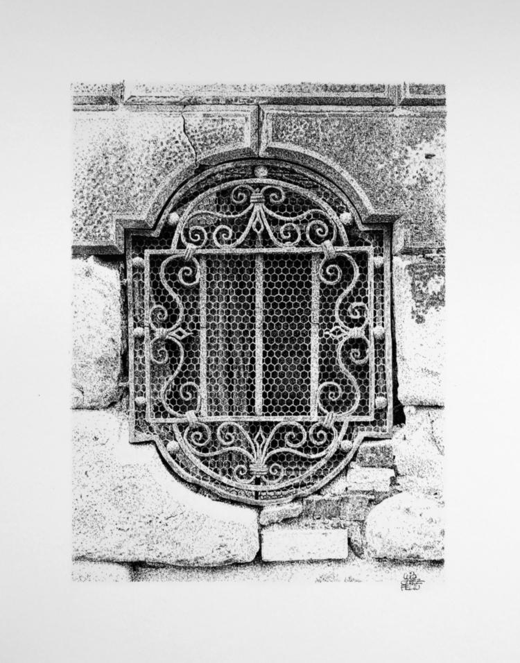 Window grill. Venice, Italy. Ch - luisgof | ello