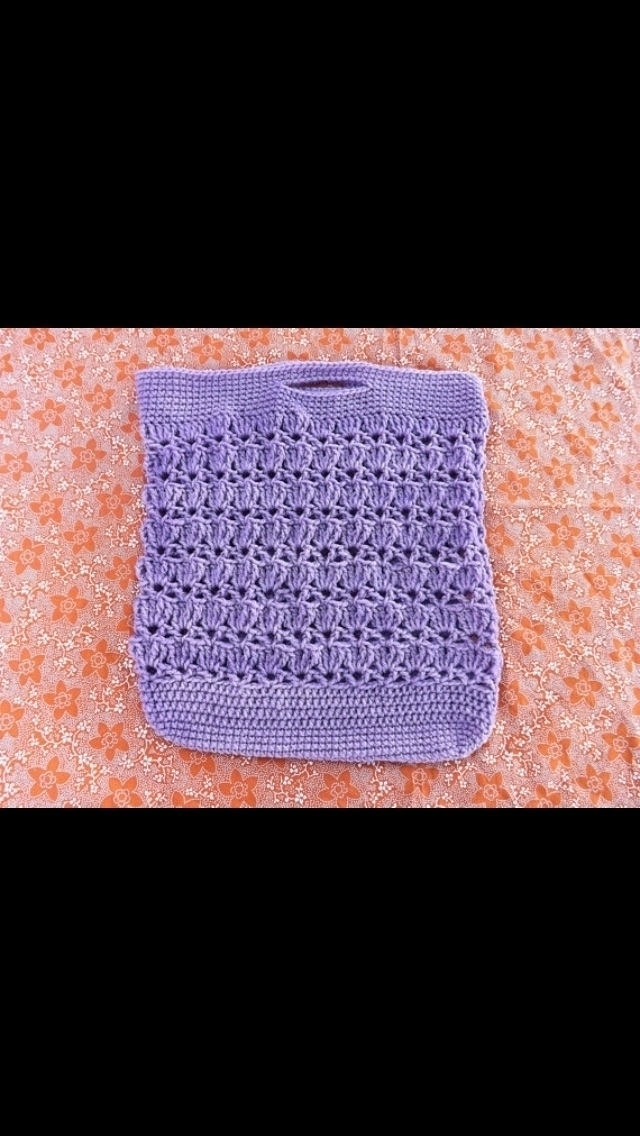 Lavender crochet market tote - kraftychiccreations | ello