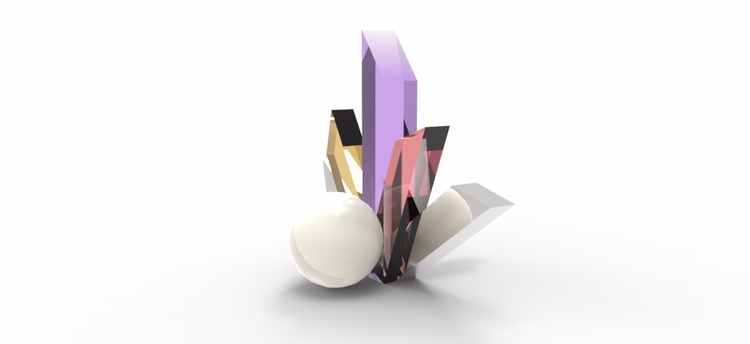 Concept earring gem stones pear - jecca-2173 | ello