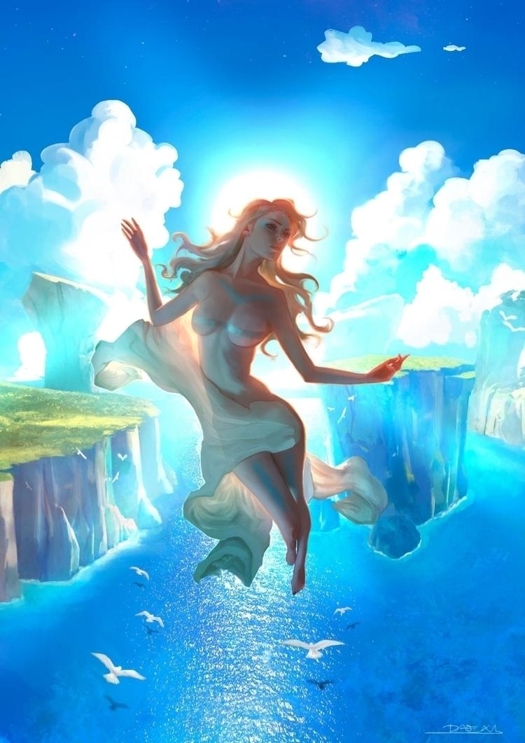 goddess, illustration, art - ukimalefu   ello