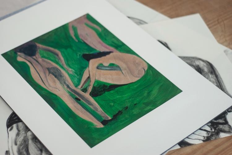 Rendeiras acrylic painting - girl - lesepierre | ello