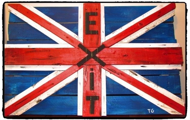 BrEXIT - unionjack, flag, pallet - thierryg06   ello