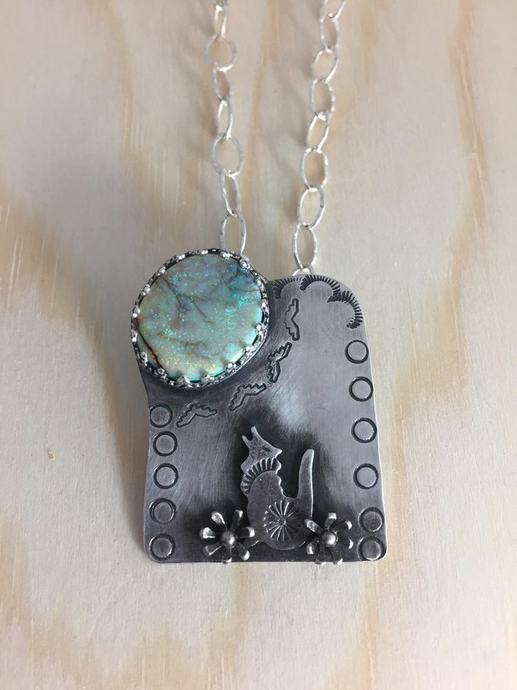 Sterling silver cultured opal c - carollbrightjewelry | ello