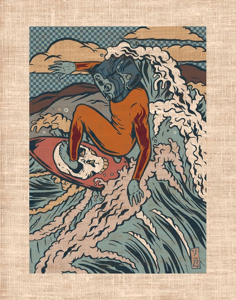 Media Surf - illustration - thomcat23 | ello
