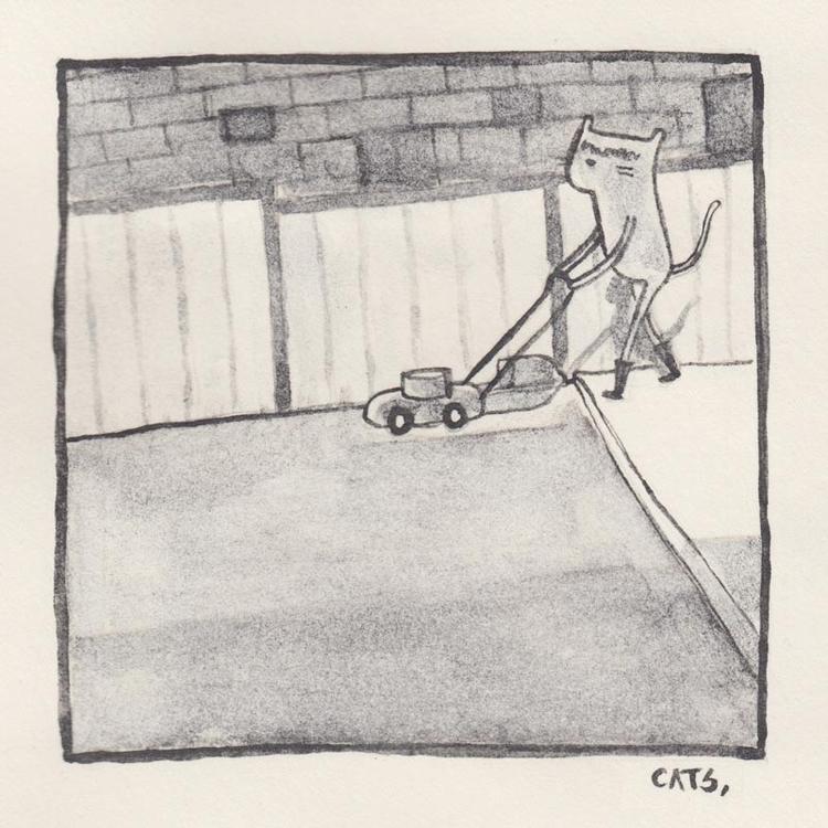 watercolour, graphite, illustration - catsac | ello