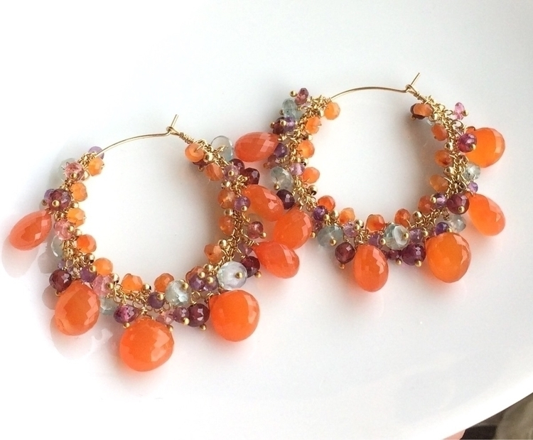 Bright cheery Orange Carnelian  - jewelleryhaven | ello
