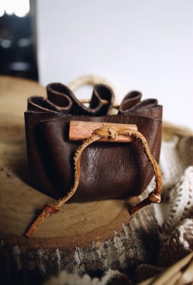Handmade Rune Set Leather Pouch - ndelswick | ello