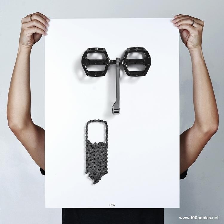 Design 29 - Bikemoji OMG series - 100copies_bicycle_art | ello