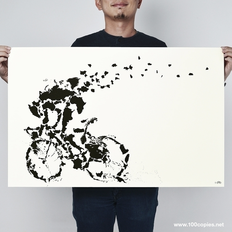 Design 35 - Tour De World fight - 100copies_bicycle_art | ello