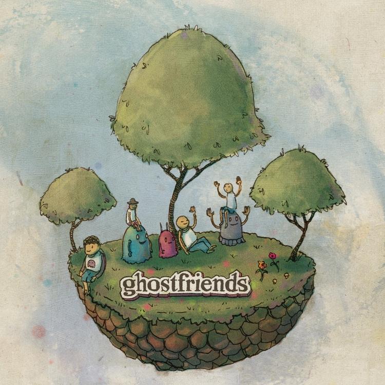 friend ghosts, Stranded island  - junkyardsam | ello