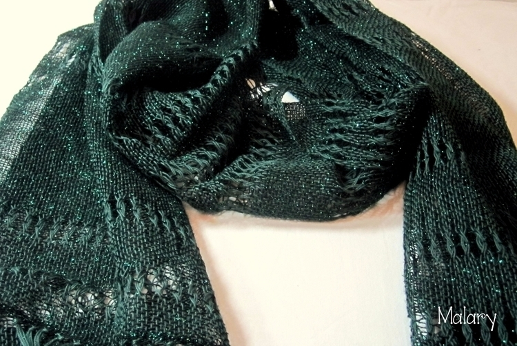 Handwoven Green Lace Esharp Sha - marija83k   ello