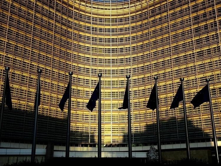 Golden light Berlaymont buildin - thesupercargo | ello