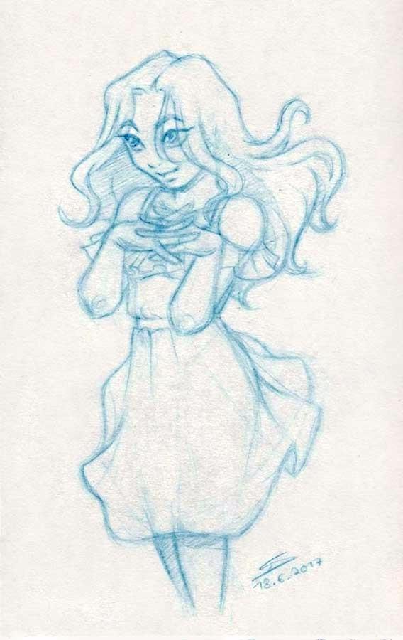 Evening doodle. warm wanted dra - lyrilith | ello