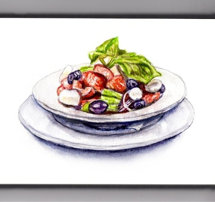 Summer Salad - doodlewash, watercolor - doodlewash | ello