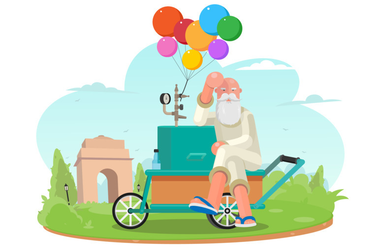 age balloon seller waiting cust - yunuskhantwin | ello