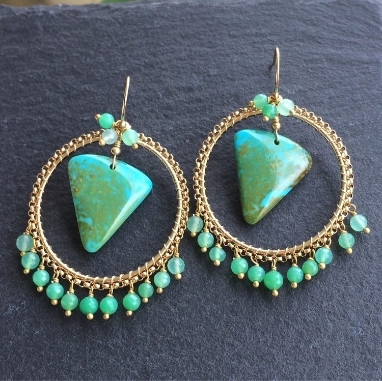 Turquoise Chrysoprase boho styl - jewelleryhaven | ello