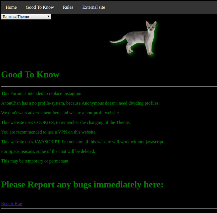site cat replaced AnonChan logo - anon_family | ello