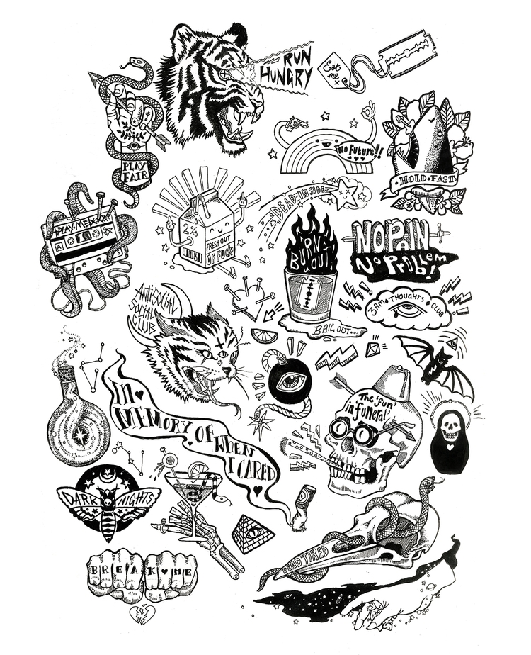 'Cheers Goths!' Flash sheet - illustration - polkip | ello