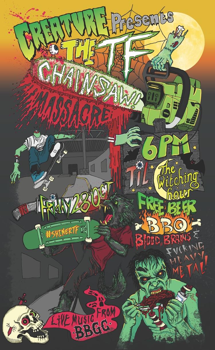 Halloween Jam skateboard poster - polkip | ello