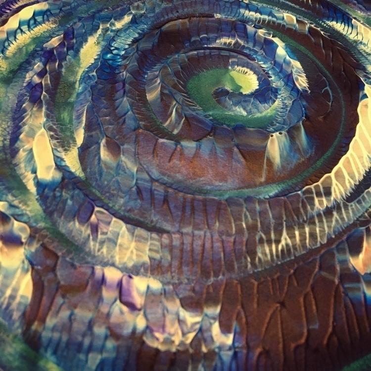 spiral - QTStudio, squareaday, monoprint - quadrapop   ello