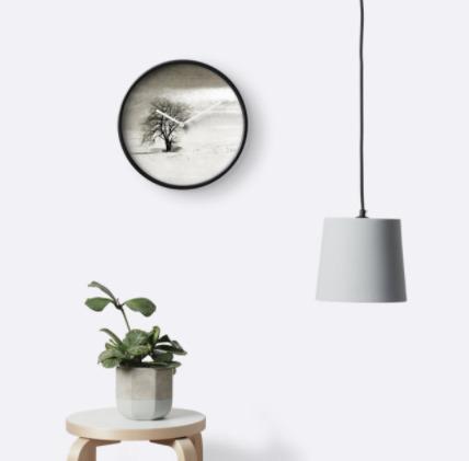 Black white tree winter clock - minimalist - brookeryan | ello